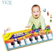 Новый Сенсорный Играть Клавиатура Музыкальный Музыка Пение Занятия Ковриков Лучшее Детям Подарок Ребенку Aug11
