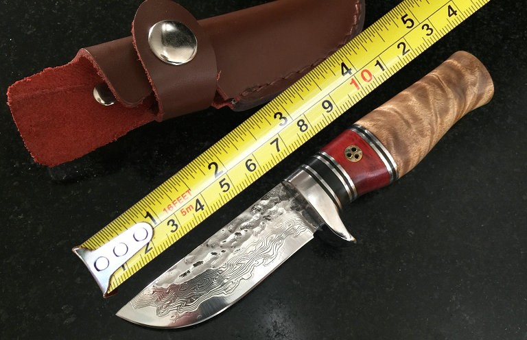 Forging Damascus Collection Fixed font b Knives b font Wooden Handle Camping Survival font b Knife
