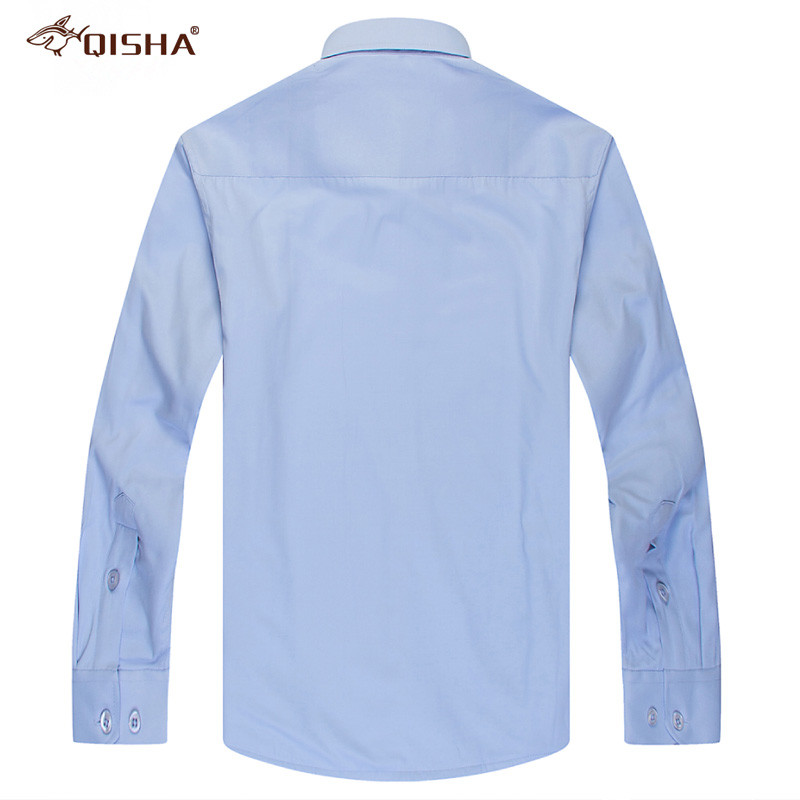 Image 4 - Fashion Winter Mens Shirt Casual Solid Striped Warm Thermal Camicia Brand Black White Blue Blouse Big Size 8XL 7XL 6XL 5XL XXXXLDress Shirts   -