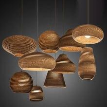 Винтажные подвесные светильники в сельском стиле из искусственной