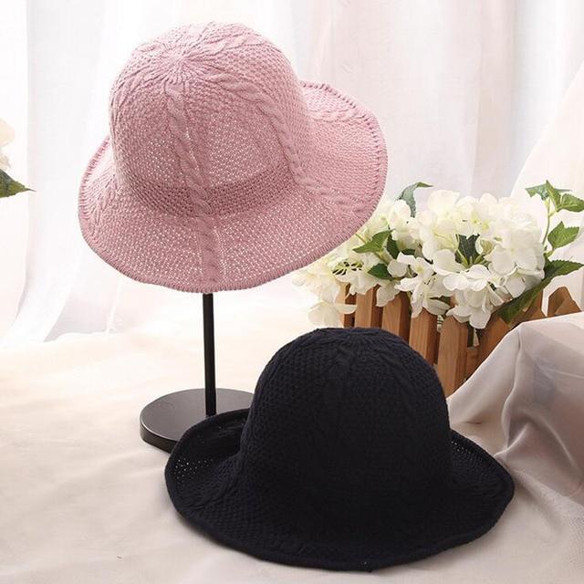 f12c031c567 oZyc 2017 Summer Women Lace Sun Hat Foldable Wide Large Brim Elegant Ladies  Bow Decoration Beach