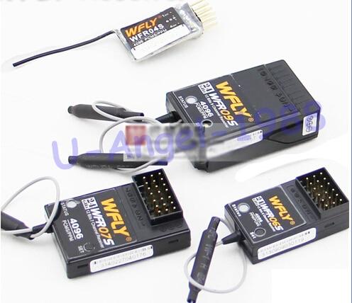 все цены на  1pcs 100% Original WFLY 2.4G Receiver WFR04S WFR06S WFR07S WFR09S for 4CH 6CH 7CH 9CH Remote Control for RC Model Wholesale  онлайн
