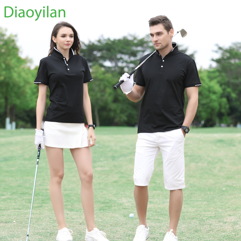 2017 new men women golf shirt summer golf training garment