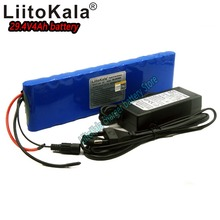 цена на Liitokala 24V 4000mah rechargeable 10A discharge lithium battery 7S2P 18650 29.4V 4ah lithium ion bms scooter battery pack