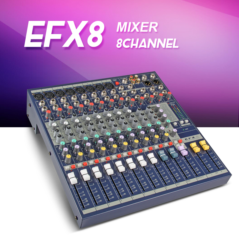 Highest quality EFX8 8channel Audio mixer DJ mixer Stage performances Mixer with Effects 110V 220V Voltage