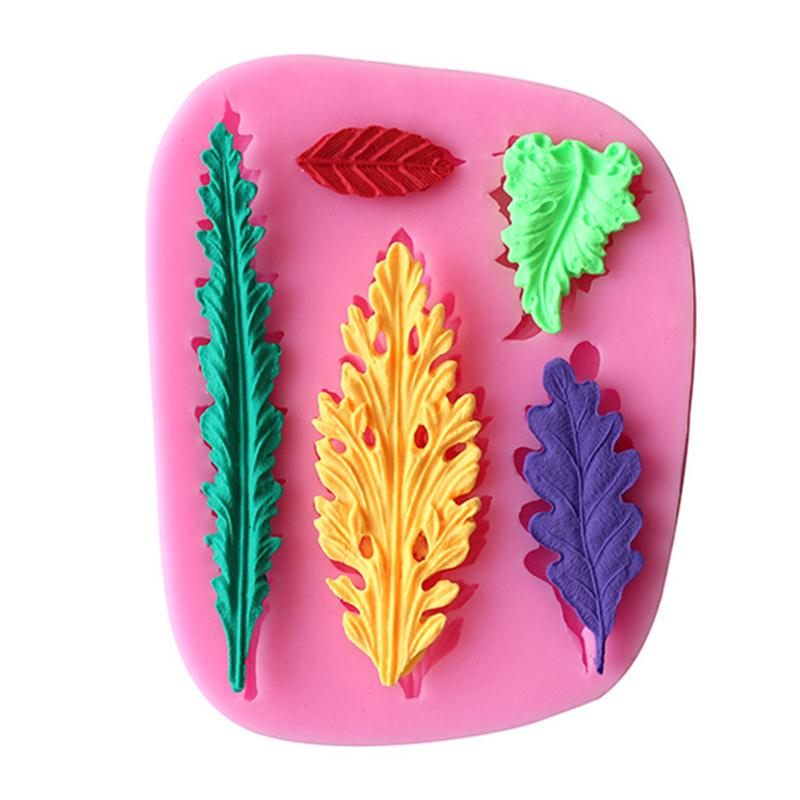 Leaves set fondant cake mold chocolate mold for the kitchen baking Silicone Sugar Decoration Cake Tool D464