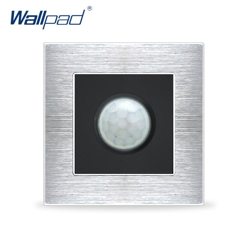 New Arrival Motion Sensor Switches Wallpad Luxury Wall Light Switch Satin Metal Panel Interrupteur