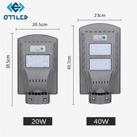 LED Solar Street Light 20w 40w Waterproof IP65 Radar Motion Sensor Road Lamp Led Street Light for Plaza Garden Yard Street Lamp