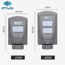 Farola LED con Sensor de movimiento para jardín, farola Solar Led, 20w, 40w, resistente al agua IP65, para Calle, Plaza