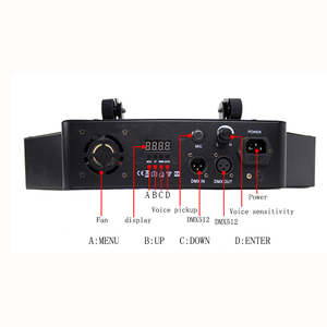 Image 4 - Disco podium lichtbundel 8*10 W LED RGBW DMX 512 party lights club sound light professionele dj apparatuur scanner bar lichten
