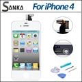 Для iPhone 4 CDMA Белый ЖК-Дисплей Экран Digitizer Замена Сенсорный Экран Ассамблея и Ремонт Набор Инструментов