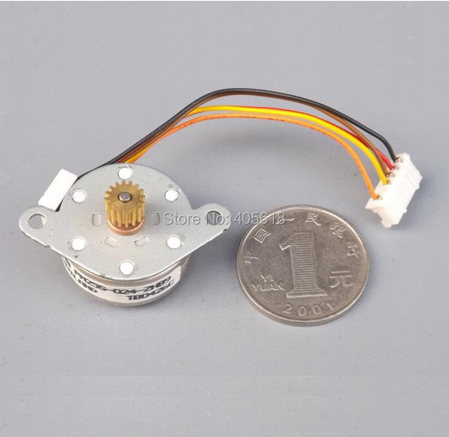 NEW 2PCS NMB 25 stepper 25mm 4 phase 5 wire stepper motor with gear ...