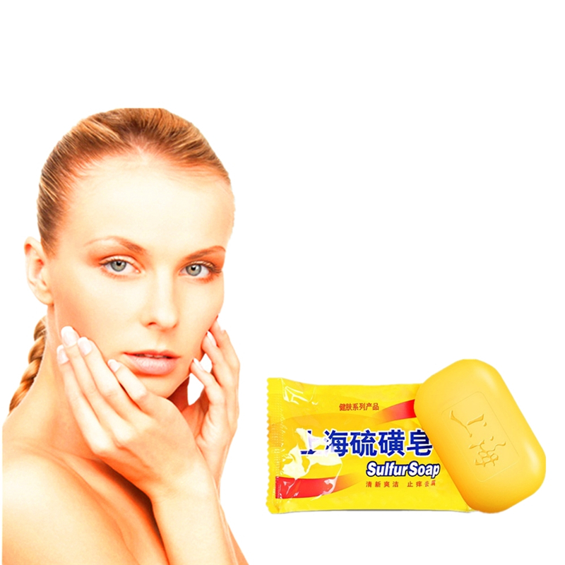 Bacteria Removing Sulfur Soap 100g Anti Bacterial Mites Acne Rosacea Oil Control Face Antibacterial Soap Cleanser
