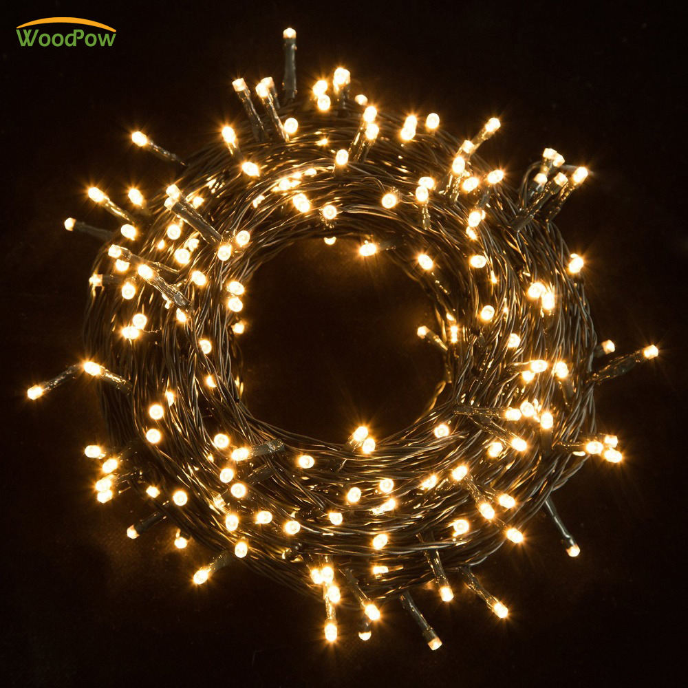 30 M Waterproof 200LED String Lights LED Peri Lampu Ideal untuk Pohon Natal Xmas Party Pernikahan Dekorasi Luar Ruangan Dengan Daya