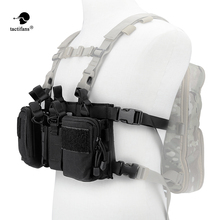 Tactical Vest Carrier Armor Army Chest Rig X Harness Rifle Pistol Magazine Pouch CRH Hunting Equipment Accessories 5.56 7.62 BK h harness chest rig plate carrier tactical vest rifle 5 56 7 62x39 single double pistol flapped gp stuff pouches hunting men