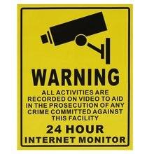 24 часа surveiliance предупреждение CCTV Камера Наклейки вывески таблички 250 мм x 200 мм