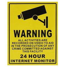 24 HOUR SurveilIance Warning CCTV Camera Stickers Signs Decals 250MMx200MM