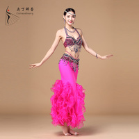 Odin Aa Rae Gogh belly dance performance service suit elastic body bag hip skirt wave fishtail skirt