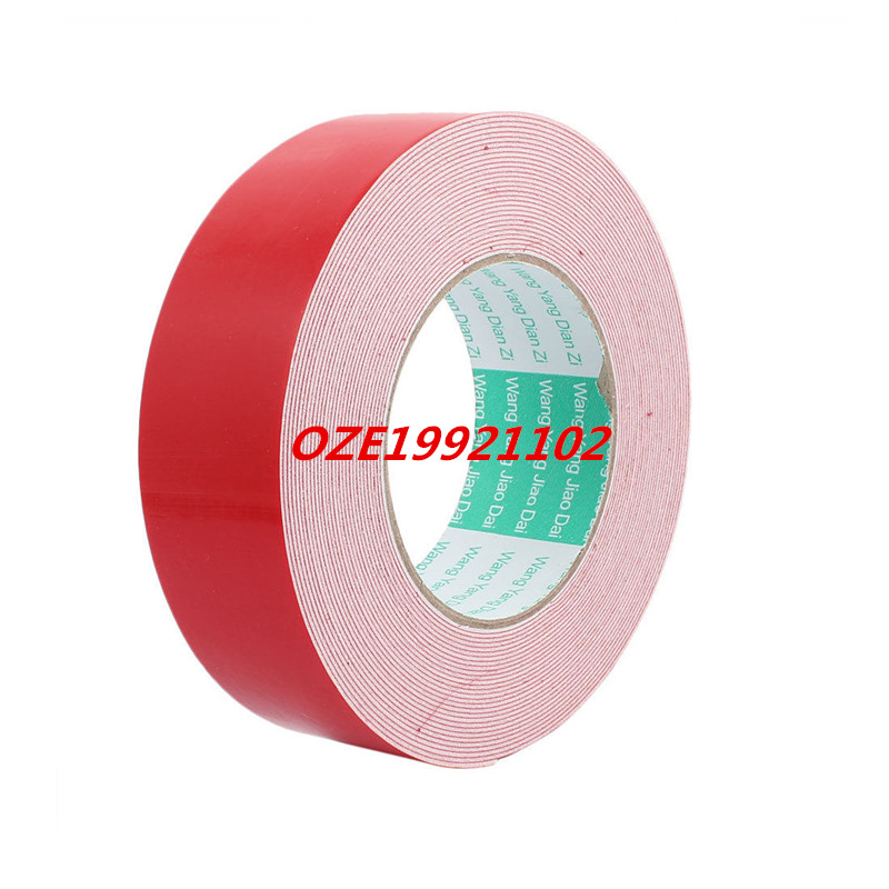 10M 40mm x 1mm Dual-side Adhesive Shockproof Sponge Foam Tape Red White 1pcs single sided self adhesive shockproof sponge foam tape 2m length 6mm x 80mm