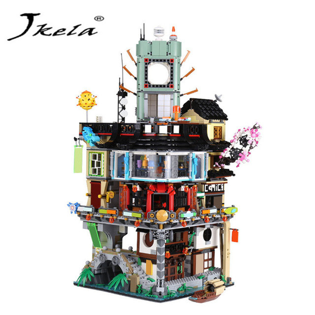 [Jkela] Compatible LegoINGly NinjagoINGly City Building Model Modular Building Stones Teens Toys Bricks Compatible 06066 70620 ...