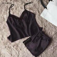 Womens Plus Size Eyelash Lace Lingerie Bodydoll V neck Lace Sleeseless Top Shorts Details Pajamas Set
