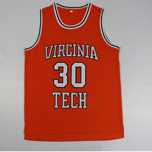 0b880be1bc24 OLOEY Stitched 30 Dell Curry Virginia Tech University Hokies Men s  Basketball Jersey