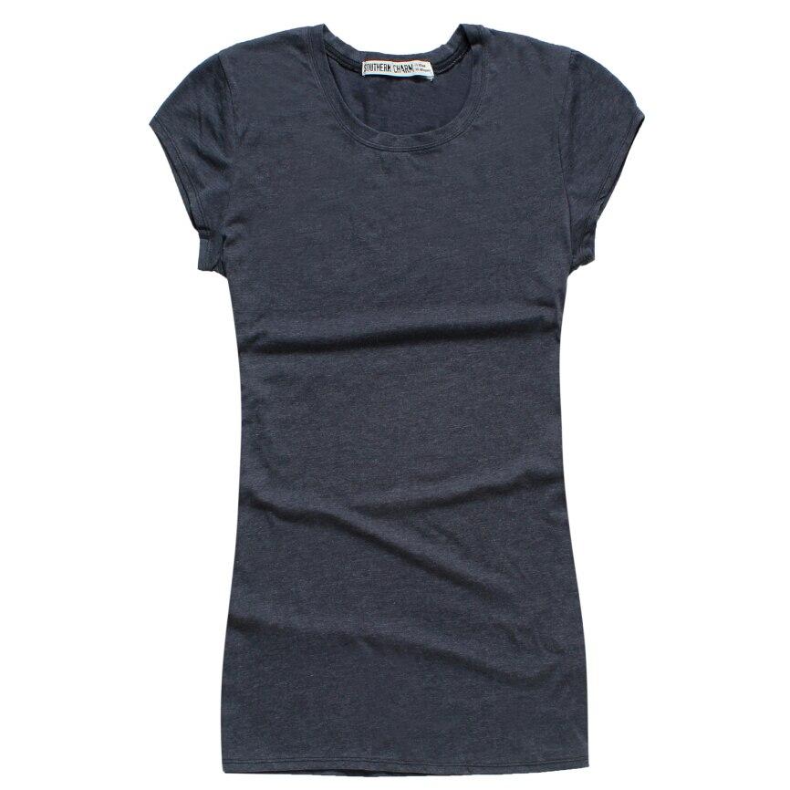 2015 New Pure Colour 100 Cotton Short Sleeve Plus Size T