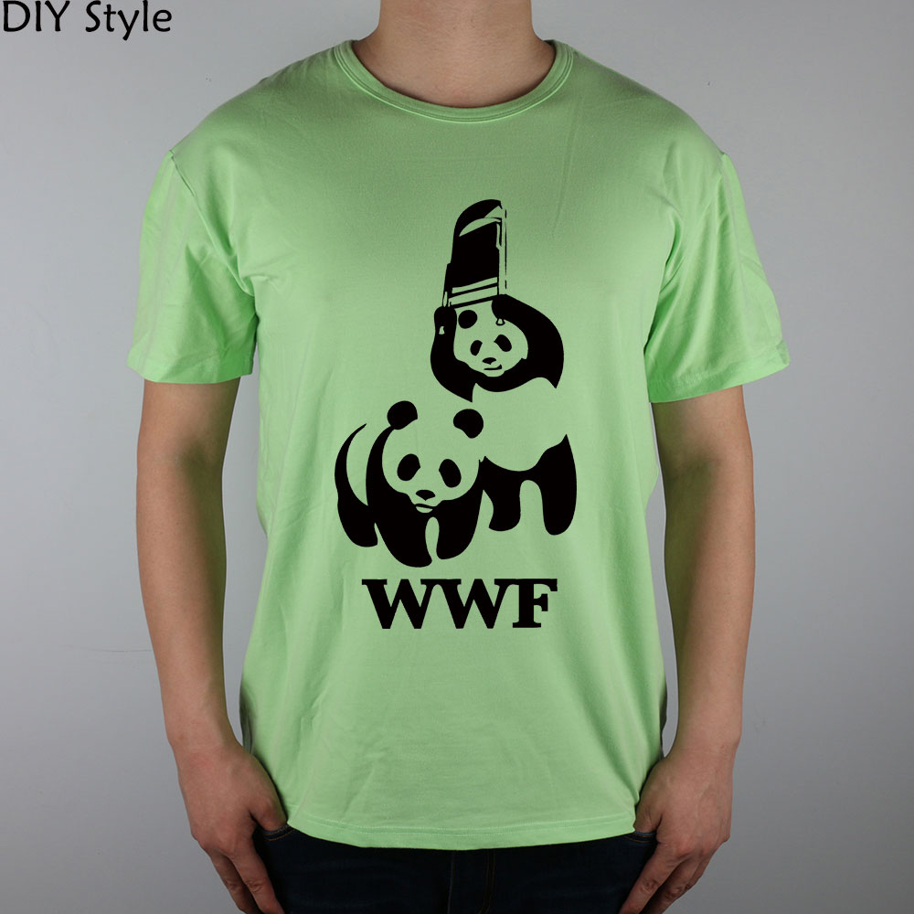 2d398158 FUNNY WORLD WILDLIFE FOUNDATION WWF T shirt cotton Lycra top 6272 Fashion  Brand t shirt men new DIY Style high quality-in T-Shirts from Men's Clothing  on ...