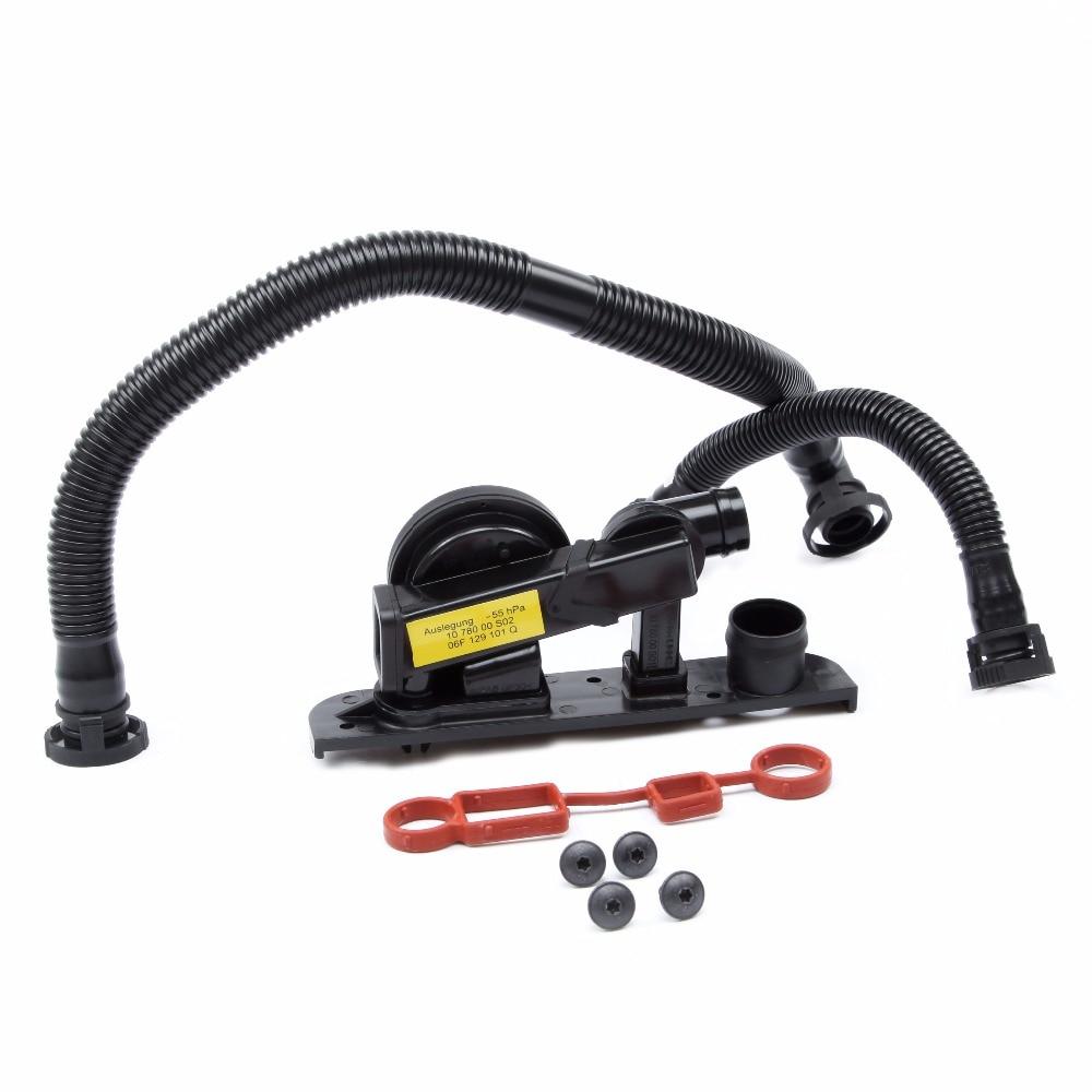 KEOGHS Plastic Cylinder Head Cover Breather Hose Pressure Regulator Valve Kit For Audi A3 A4 A6