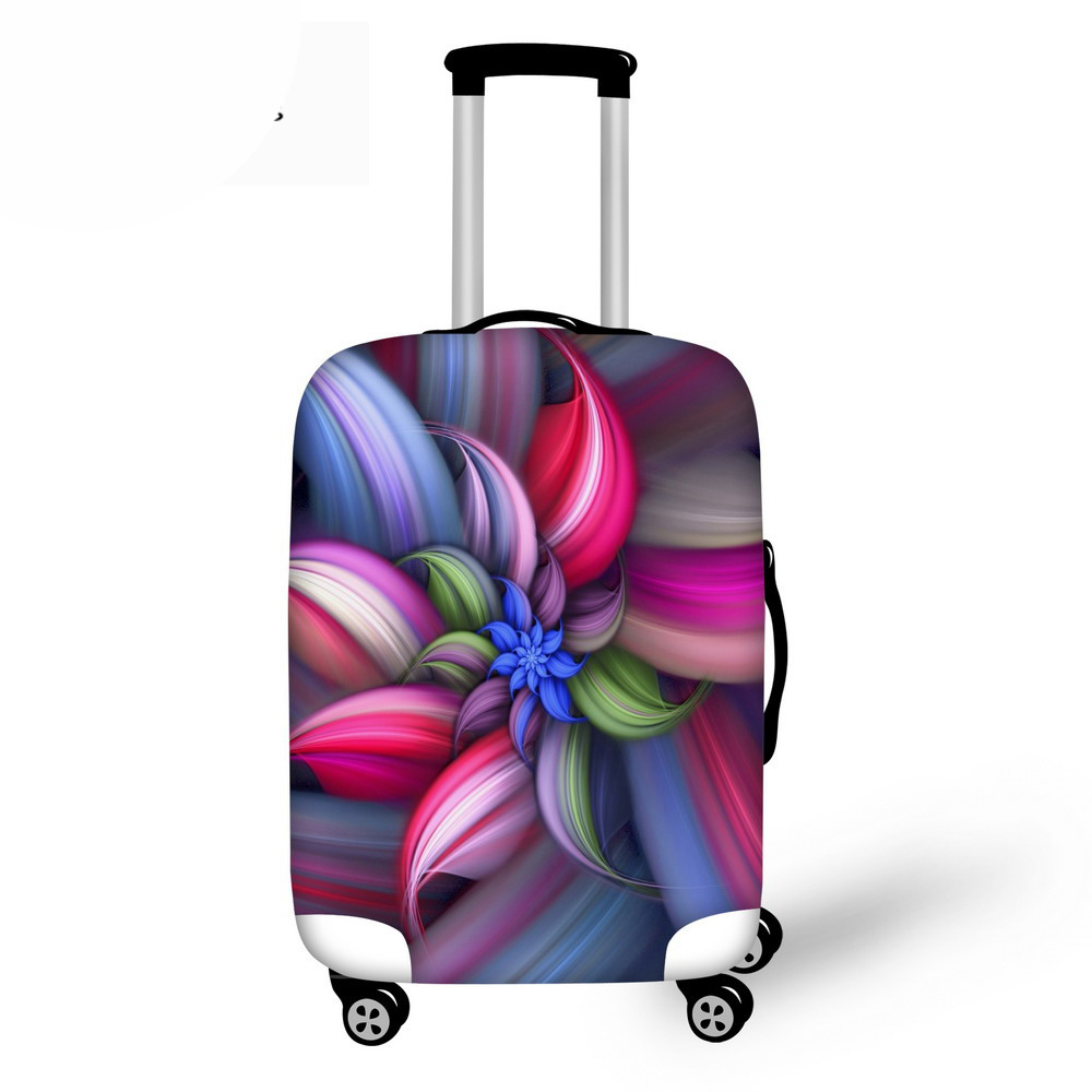 Luggage Protective Case Beautiful Flower Waterproof Cover For 18-30 Inch Trolley Suitcase Elastic Travel Rain Covers