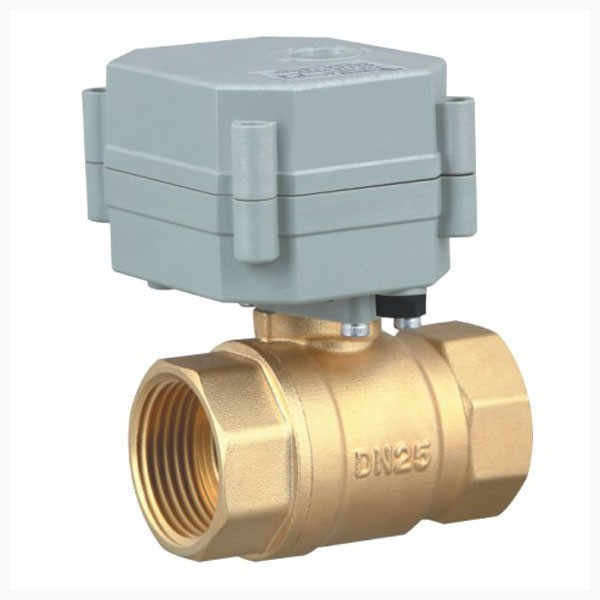 ФОТО Free shipping DN25 AC/DC9-24V 2wires TF25-B2-C Brass Normal Closed Valve With Indicator 2 Way 1'' Motorized Ball Valve