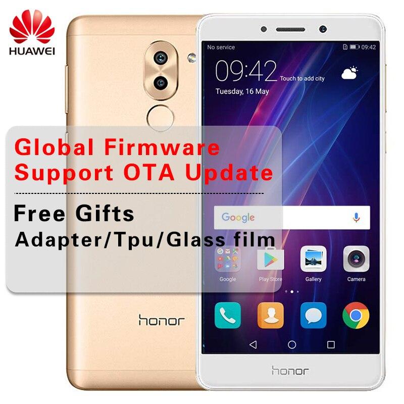 Global rom huawei Honor 6X3 ГБ/4 ГБ Оперативная память 32 ГБ/64 ГБ Встроенная память двойной сзади Камера сотовый телефон 5,5 дюймов Kirin 655 Octa Core Android 7,0