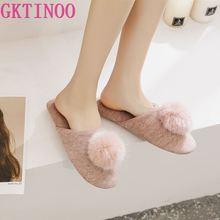 Gktinoo 봄 여름 여성 실내 슬리퍼 실내 침실 집 부드러운 바닥 면화 따뜻한 신발 성인 손님 아파트