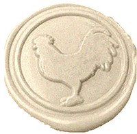 Vintage Cock Rooster Wedding Invitation Custom Picture Logo Wax Seal Sealing Stamp Sticks Spoon Gift Box