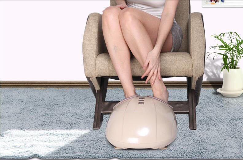 Electric Foot Massager Massage Machine Constant Heating Thermal Roller Kneading Timing Care Device Wireless Control Electronic hfr 8802 3 healthforever brand wireless control kneading device legs instrument electric shiatsu air bag foot massager machine