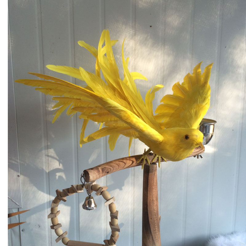 new creative simulation yellow bird model toy polyethylene & furs wings bird gift about 45cm 1620 creative simulation plush soft fox naruto toy polyethylene