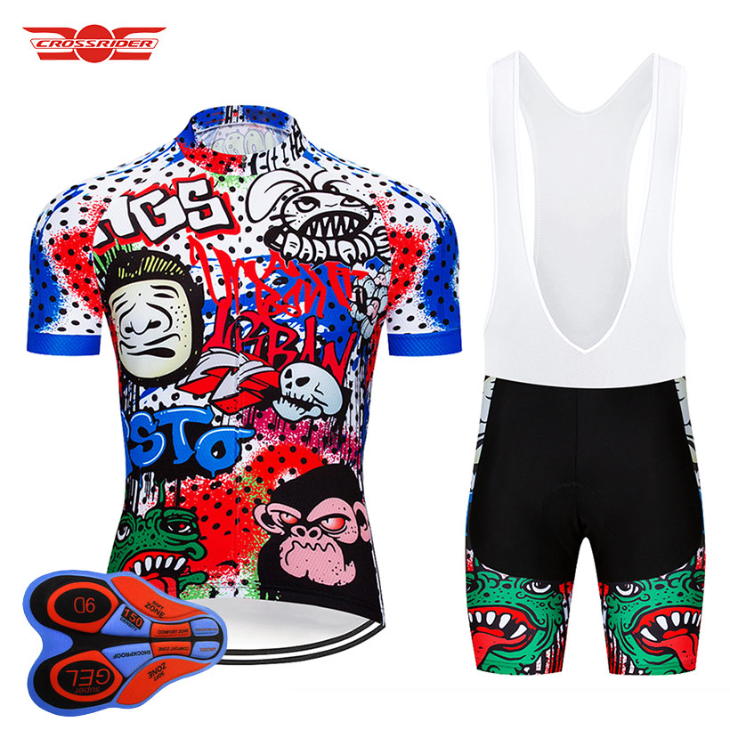 Crossrider 2018 Cycling Jersey Set Breathable Mountain Bicycle Clothing Bike Wear Clothes Men 9D Gel Short Maillot Culotte crossrider 2018 cycling pro jerseys set mtb uniform mountain bike clothing bicycle wear clothes men short maillot culotte