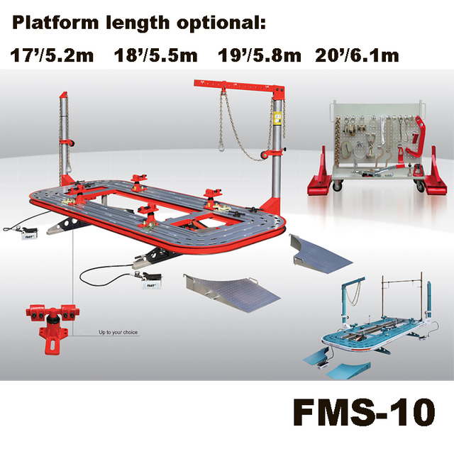 FMS 10 Crashed Car Repaired Bench/Auto Straightening Equipment/Frame ...