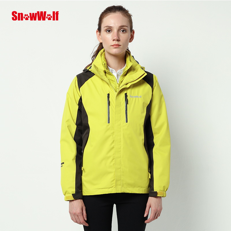 SNOWWOLF Blizzard Outdoor Waterproof Womens Jacket Winter Overcoat With Hood For Camping Hiking