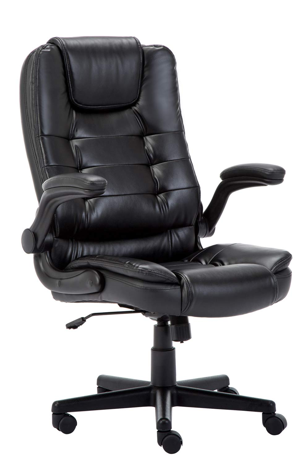 Leather Office Executive Boss Chair Computer Chair Foldable Arms Ergonomic Swivel Gaming Chair WCG DE
