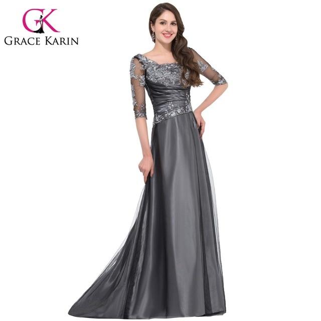 Dark Gray Evening Dress