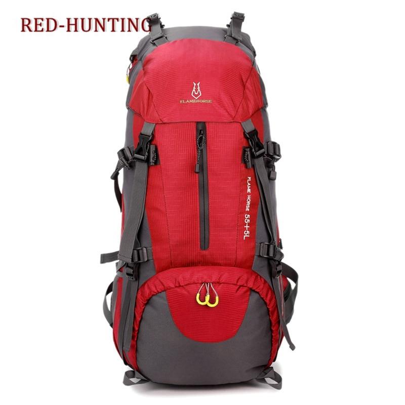 4e54790e5b Di Viaggio Borsa Campeggio Donne Trekking 2 Qualità Zaini Outdoor Uomini  Delle Alta Sacchetto 1 Borse 60l Degli 4 Arrampicata 6 Nylon ...