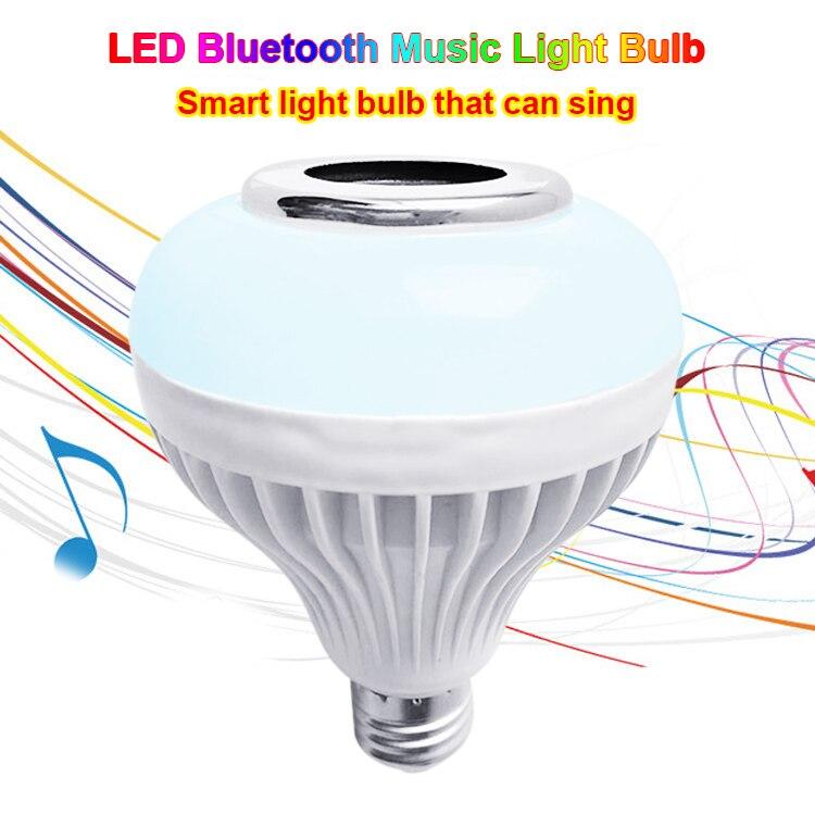 Smart LED RGB Wireless Lamp Bluetooth Speaker Bulb 12W Music Playing Indoor Light --M25