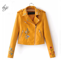 2017 Pink Black Yellow Candy Color Pu Leather Jacket Turn Down Collar Rivet Zipper Fashion Cool