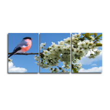 Laeacco 3 Panel Canvas Painting Bird and Flower Decorative Wall Art For Home Decor Picture for Living Room Bedroom Decoration