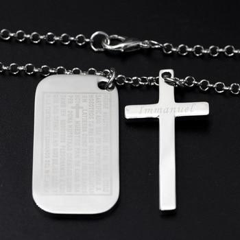 Жетон с крестиком Нержавеющаясталь 1
