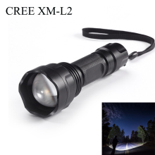 цена на 1000 lumens XM L2 super bright flashlight 18650 5 mode outdoor hunting zoom torch high power lighting LED tactical flashlight