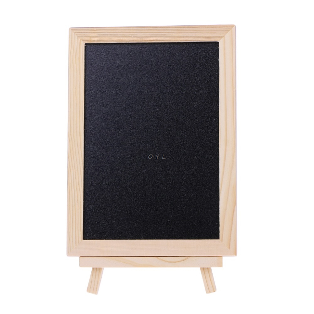 Newest Wood Tabletop Chalkboard Double Sided Blackboard Message Board Children Kids Toy Drawing Board Message Black Boards