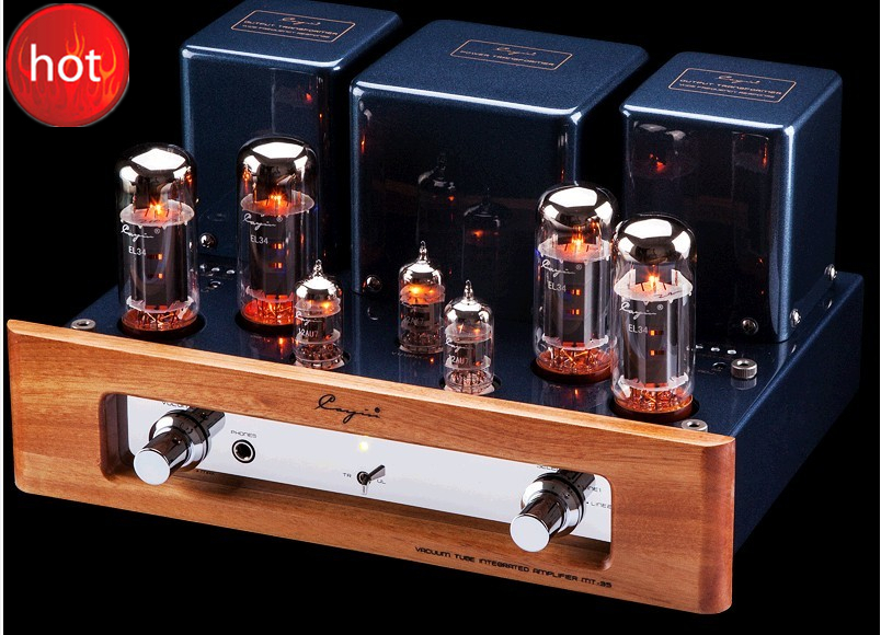 Cayin MT-35MK2 vacuum Tube amplifier Tube EL34x4 class AB1 push-pull power amplifier headphone earphone output 32W*2 220V