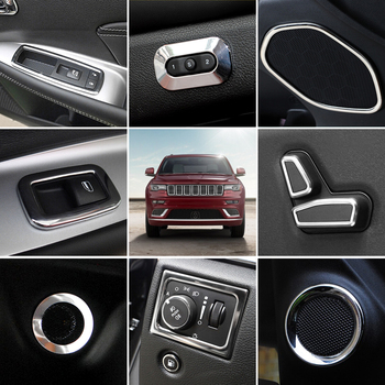 Car Styling 18PCS Interior Accessories Cover Decoration Trims For Jeep Grand Cherokee 2011 - 2018